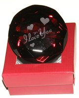 "Red Diamond Crystal Glass Etched ""I Love You"" Paperweight in Vacaville, California"