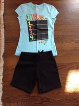 Girls Justice Shorts Outfit Size 7 in Naperville, Illinois