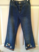 Girl's 6/6X Embellished Jeans 2 pairs in Lockport, Illinois