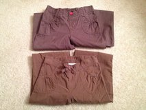 Girl's 6/6X Brown Pants - 2 Pairs in Bolingbrook, Illinois