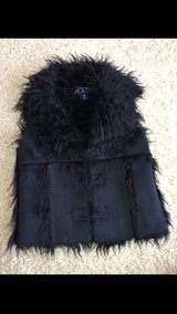 Black Suede/Fur Girls Vest in Westmont, Illinois