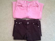 Girl's 6X Pink & Brown Stretch Pants in Bolingbrook, Illinois