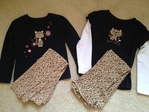 2 pc. Girl 6 Leopard Outfits in Bolingbrook, Illinois