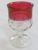 Reduced~Vintage Red Ruby Small Goblet in Yorkville, Illinois