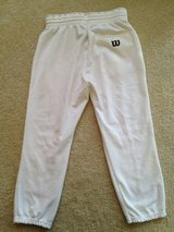 WILSON White (L) Youth Baseball Pants in Lockport, Illinois