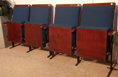 Rare Real Theater Chairs Two by Two Total of 4 Chairs in Ramstein, Germany