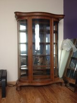 Curved glass china cabinet in Batavia, Illinois