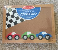 Racing Cars Corkboard with Matching PushPins in Plainfield, Illinois