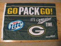 PROMO GREEN BAY PACKERS MILLER LITE BEER WALL BANNER FLAG in Brookfield, Wisconsin