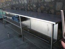 2 Stainless Steel preparation tables in El Paso, Texas
