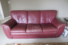 Burgundy Leather Sofa--NEW PRICE! in Naperville, Illinois