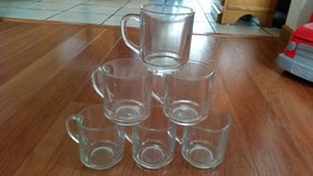 MARKED DOWN: 6 Pc Clear Glass Coffee Mugs in Glendale Heights, Illinois