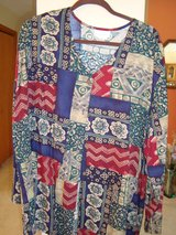 Multi blue and black Blouse  sz 3X in Naperville, Illinois