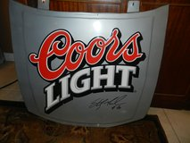 Coor's Light hood signed by number #40 in Aurora, Illinois