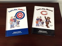 Let's Go Bears & Let's Go Cubs Hardcover Books in St. Charles, Illinois