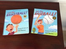 2 hardcover Sports Books. - Let's Play Basketball & Baseball in St. Charles, Illinois