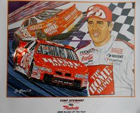MAKE OFFER!! AUTOGRAPHED TONY STEWART SAM BASS COLLECTIBLE ROOKIE OF THE YEAR PRINT 1999 in Warner Robins, Georgia