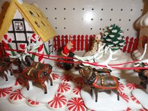 Dept 56 Sled & Reindeer, plus Village in Eglin AFB, Florida