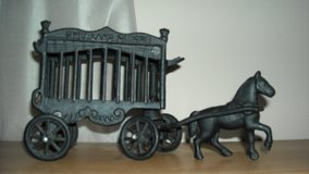 Vintage Cast Iron Overland Circus Wagon and Horse in New Orleans, Louisiana
